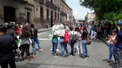 El bloqueo provocó un severo caos vial en varias calles del Centro Histórico de Morelia