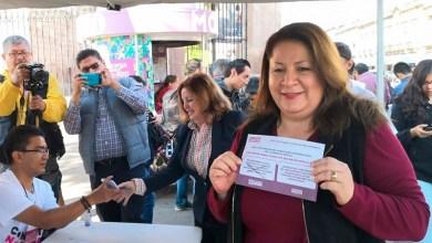 La legisladora michoacana emitió esta mañana en Morelia su voto y su opinión en el contexto de la consulta nacional