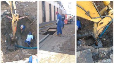 fuga de agua, Morelia, Centro Histórico