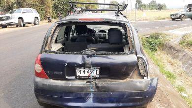 vehículo vandalizado