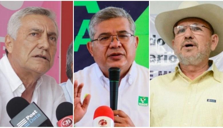 Los suspirantes, Cristóbal Arias, Juan Antonio Magaña, Hipólito Mora