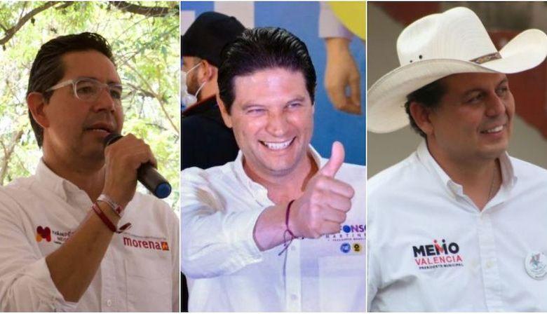 Iván Pérez Negrón, Alfonso Martínez Alcázar, Guillermo Valencia