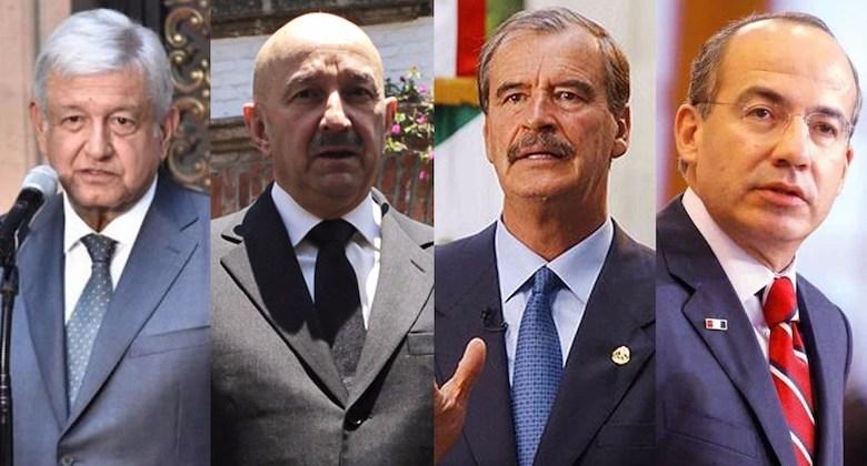 Andrés Manuel López Obrador, Carlos Salinas de Gortari, Vicente Fox Quesada,Felipe Calderón Hinojosa