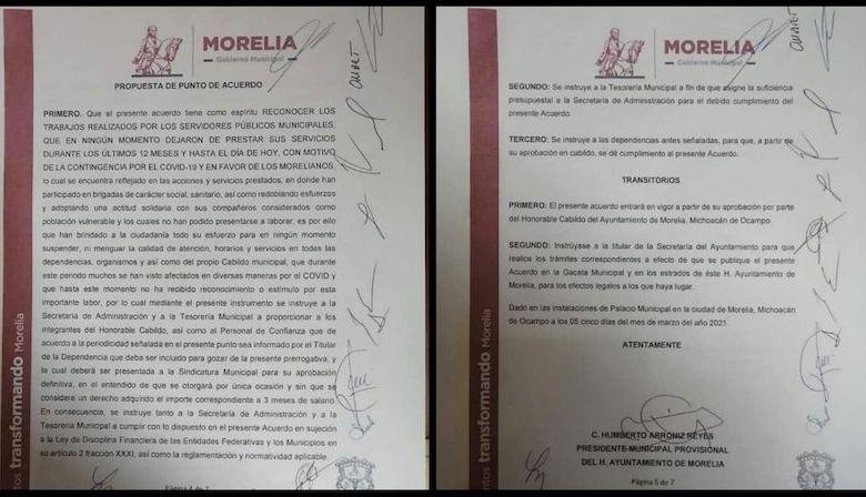 bono,regidores, Morelia