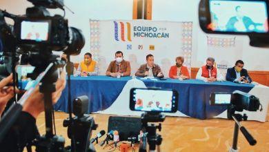Equipo por Michoacán, rueda de prensa