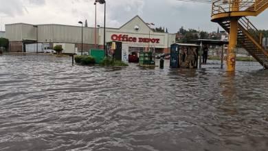 lluvia,Calzada La Huerta, Morelia, inundación