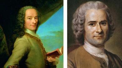 Voltaire y Rousseau
