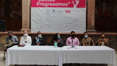 rueda de prensa en Zitácuaro