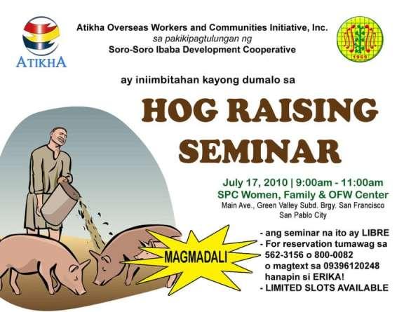Hog Raising Seminar