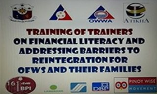 BPI sponsored the Financial Literacy Training of Trainers seminars conducted by Atikha in Qatar and United Arab Emirates (UAE).