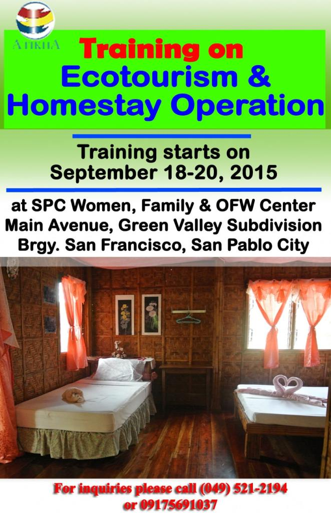 Training on Ecotourism & Homestay Operation