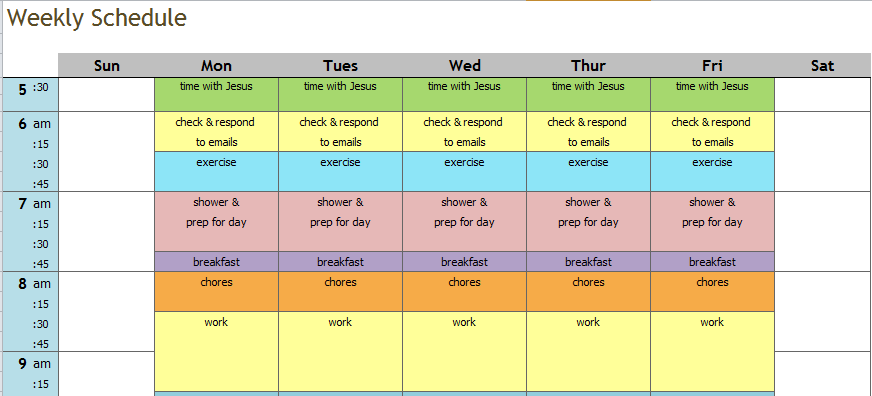 attempted schedule