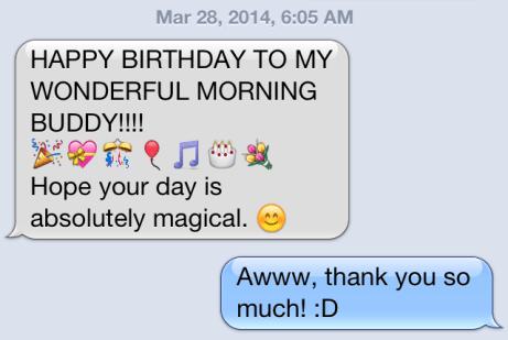 birthday text