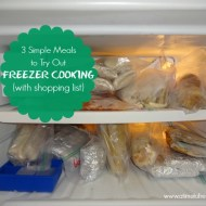 3 Simple Meals to Try Out Freezer Cooking (with shopping list)