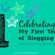 Celebrating My First Year of Blogging!