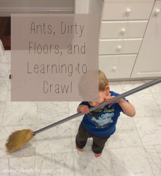 Ants Dirty Floors And Learning To Crawl Love This Mom Life