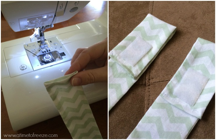 With Your Pressed Strip You Will Then Fold In The Fabric At Top And Sew It Together Using A Quarter Inch Seam Or Just Enough To Seal