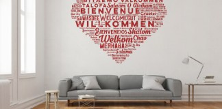 Break up wall space with home decor trends.