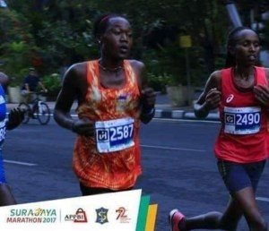 Hillary Kiprotich photo as female athlete