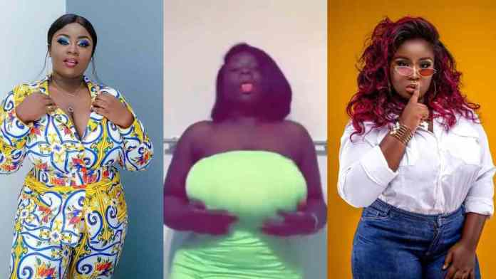 Fans gush over Maame Serwaa as she shows off banging body in new video [watch]