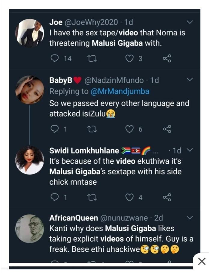 Malusi Gigaba and girlfriend new sextape