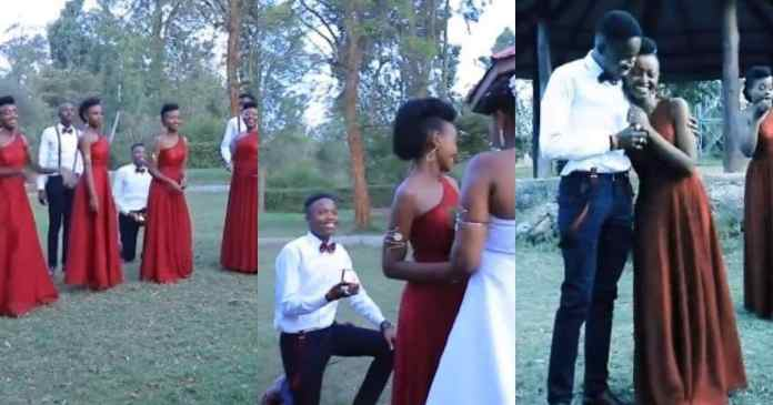 Man proposes to bridesmaid