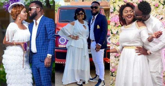 Nana Ama McBrown's husband tr¶sh£s divorce rumours as he gushes over actress
