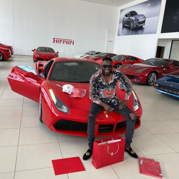 Ginimbi Ferrari catches fire