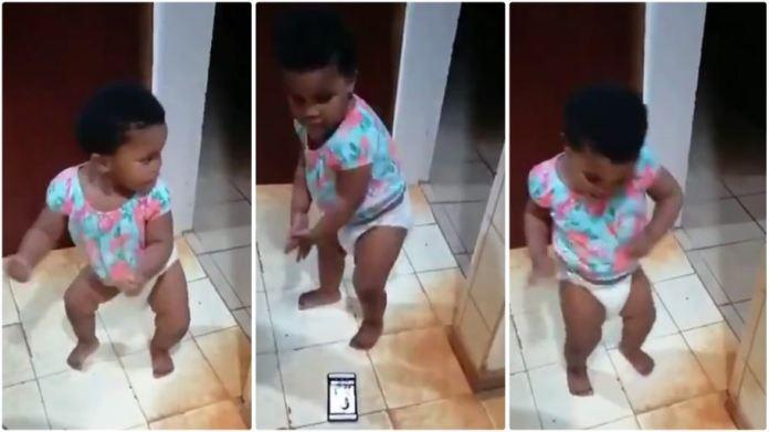 Baby in diaper dance