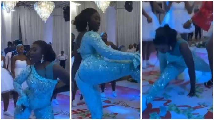 Bride twerking at her wedding ceremony reception