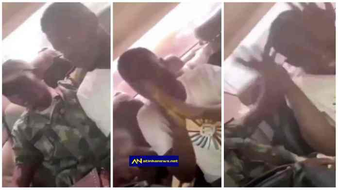 Nigerian Soldier repeatedly slaps man