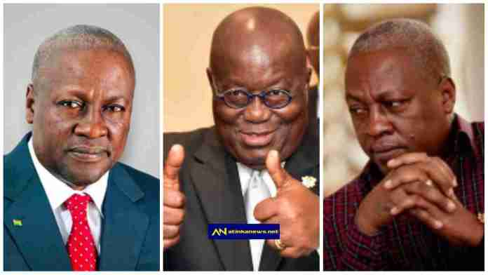 "Netizens react to photo of Mahama ""bowing"" before Nana Akufo Addo at Rawlings' funeral rites"