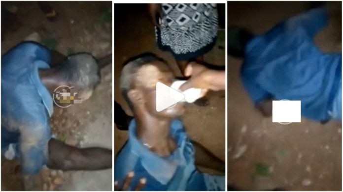 A video currently circulating on social media shows a Broken-hearted man dirtying himself on the bare floor after being dumped by her boyfriend.