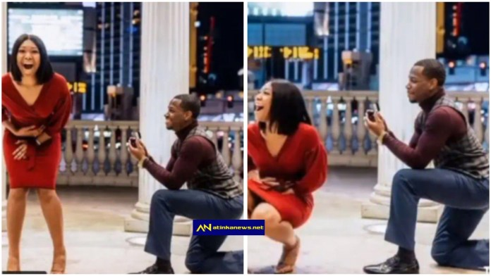 Man gives his girl surprise proposal
