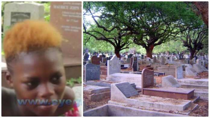 Abena girl who lives at the cemetery with boyfriend