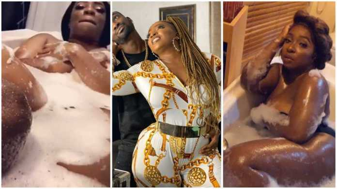 Fans drag Anita Joseph for sharing intimate video of her husband bathing her [Video]