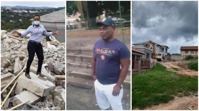 Man who demolished girlfriend's house finally shares his side of the story