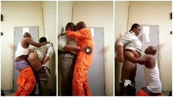 prison warder and inmate video