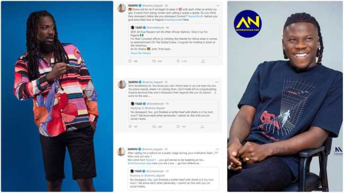Samini and Stonebwoy 'destroy' each other on social media again