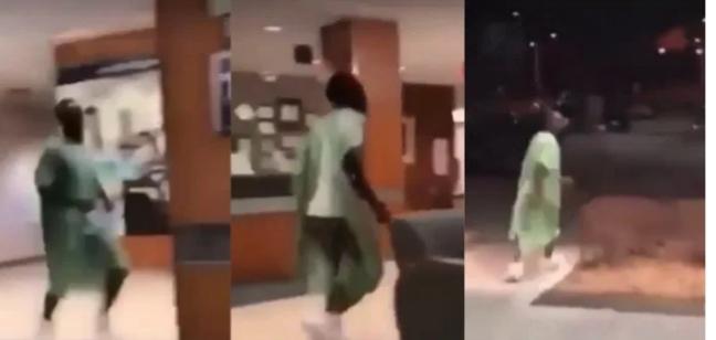 Man runs away from hospital bed