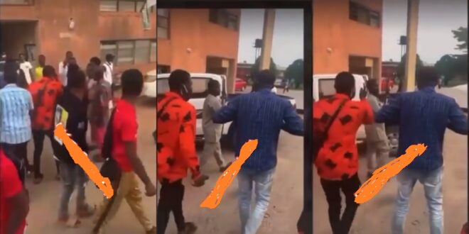 UNIBEN students rebel against lecturer who brought a gun to exam hall