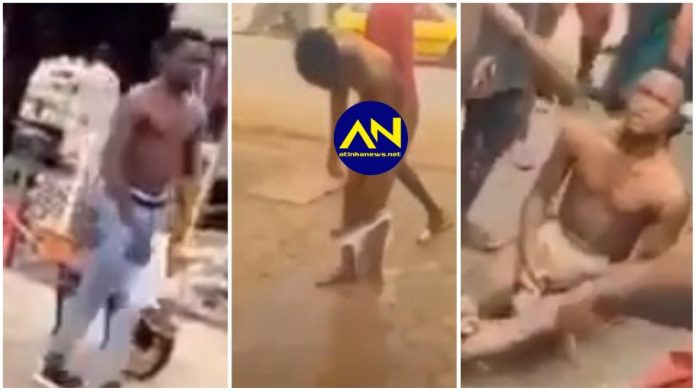 Young man runs mad in the streets after failed money ritual attempt