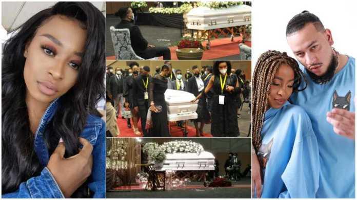Dj Zinhle photo hijacks Nellie Tembe's funeral tribute video [watch]