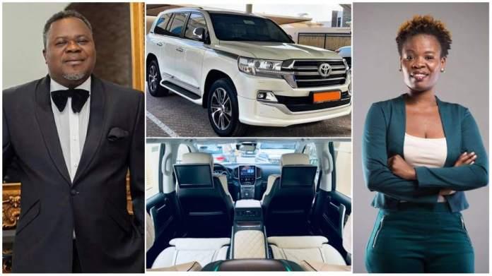 Toyota Land Cruiser  Prado by her boss Dr Kwaku Oteng