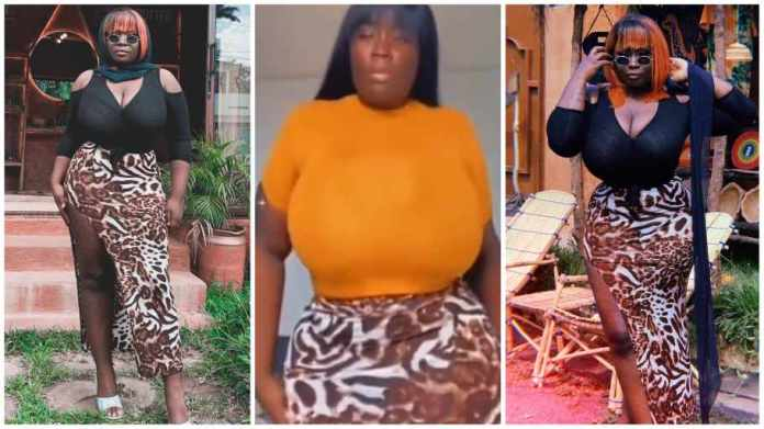 Maame Serwaa flaunts her newly-improved backside in latest video; fans shock [Watch]