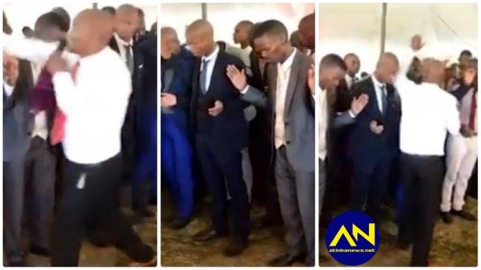 Pastor heavily slaps congregants