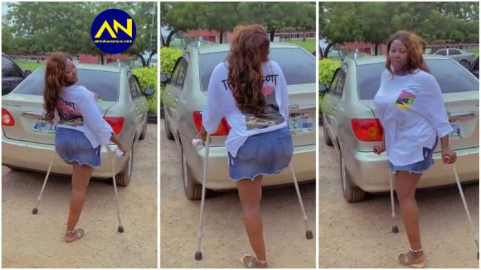 physically-challenged lady dancing to chike running to you song