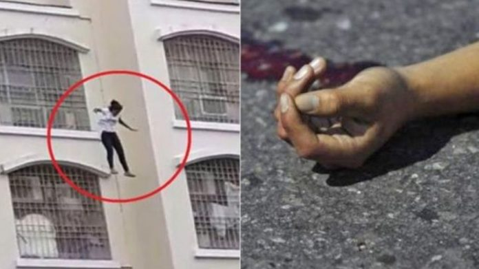 YLady roaming for network falls off three-storey building