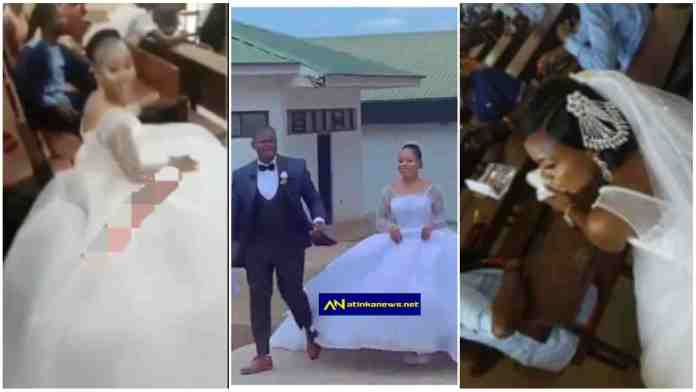 University students storms exams hall with her wedding dress