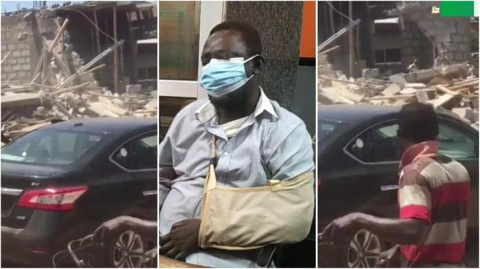 Physically challenged man cries out